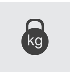 Kettle bell icon vector
