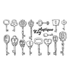 Key in different form and material ink set vector
