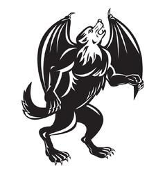 kludde mythical belgian beast vector image