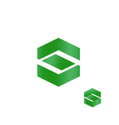Letter s abstract finance business logo green vector