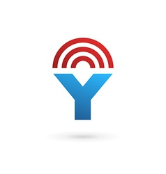 Letter Y wireless logo icon design template vector image