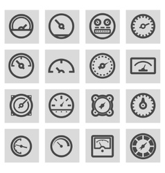 Line meter icons set vector
