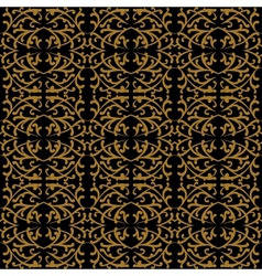 Linear pattern in baroque and rococo style vector