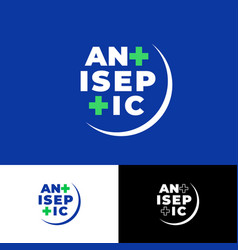 Logo antiseptic sanitizer medical cross vector