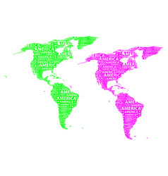 map of continent america vector image