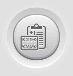 medication pills flat icon vector image
