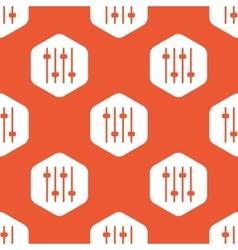 Orange hexagon faders pattern vector image
