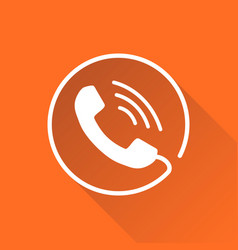 Phone icon contact support service sign isolated vector