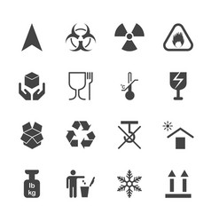 products info for transportation icon set vector image