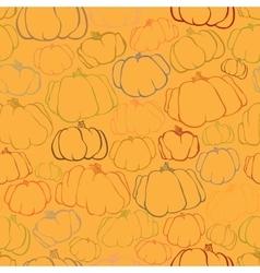 Pumpkin seamless orange pattern background vector