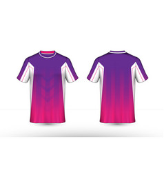 purple pink and white layout e-sport shirt design vector image