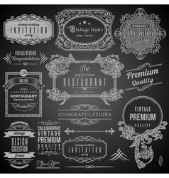 Retro Calligraphic design elements vector image