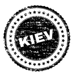Scratched textured kiev stamp seal vector