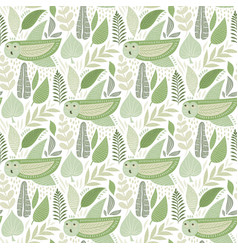 Seamless tough pattern with owls vector