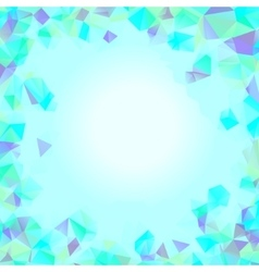 Shades of cyan blue abstract polygonal geometric vector