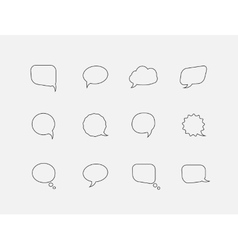 Speech line bubbles vector image