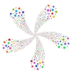 Star fireworks flower with five petals vector