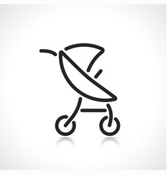 stroller or carriage line icon vector image
