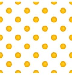 Sun pattern cartoon style vector image