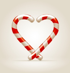 Sweetheart made candy canes vector