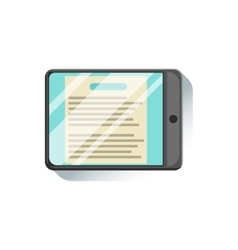 Tablet With Document To Read On Screen Office vector