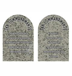 Ten commandments vector