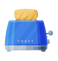 Toaster with grilled toast bread household vector