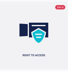 Two color right to access icon from gdpr concept vector