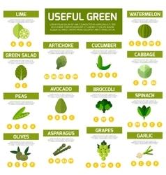 Vegetarian food infographic background vector