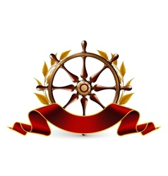 Wheel Emblem vector image vector image