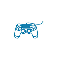 wired gamepad linear icon concept wired gamepad vector image