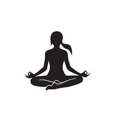 Woman pose yoga vector