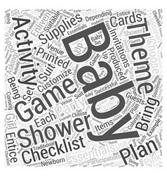 baby shower supplies Word Cloud Concept vector image vector image