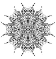 black and white zenmandala vector image vector image