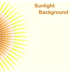 Colorful sunlight background round sunbeams vector image vector image