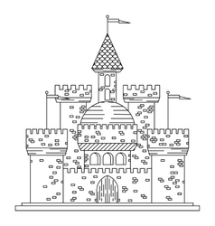 Fairytale royal thin line castle or palace vector image vector image