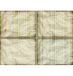 paper striped backgrounds vector image
