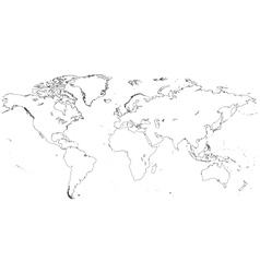 World Continents vector image