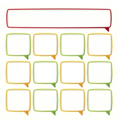 Colorful speech bubble frames Labels in the form vector image vector image