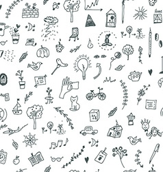 Creative seamless pattern with funny design vector image vector image
