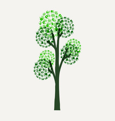 hand print tree for environment cause vector image vector image