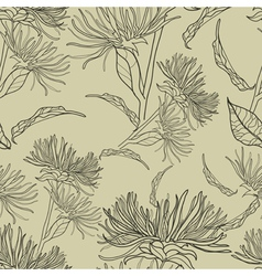 seamless floral vintage pattern vector image vector image