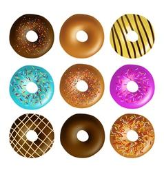 Donut set vector image