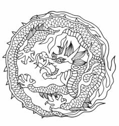 Dragon japan design vector