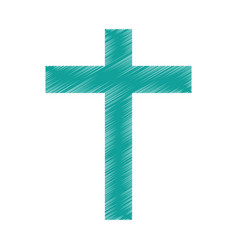 religious cross isolated icon vector image