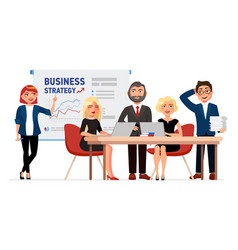set of business people cartoon characters vector image