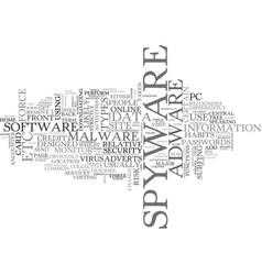 what is spyware and how did i get it text word vector image