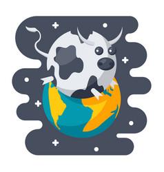 parody science icon vector image vector image