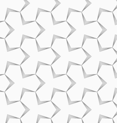 Slim gray pointy tetrapods with striped bevel vector image
