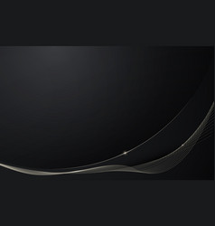 Abstract black wavy digital background vector